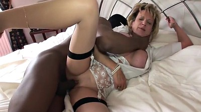 Black, British milf, Come