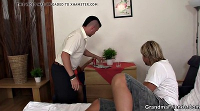 Mommy, Hot mature, Threesome young, Threesome mature, Old young threesome