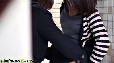 Spy, Japanese outdoor, Japanese voyeur, Japanese pissing, Asian public