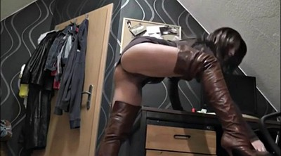 Wanking, German milf