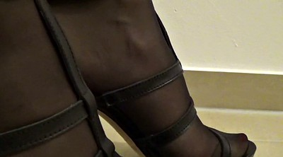 Stockings, Stock, Stocking footjob, Stocking feet, Footjob stocking, Black stocking