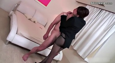 Japanese pantyhose, Japanese black, Asian feet, Pantyhose footjob, Nylon footjob, Japanese nylon