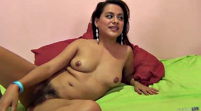 Handjob, Hairy ebony
