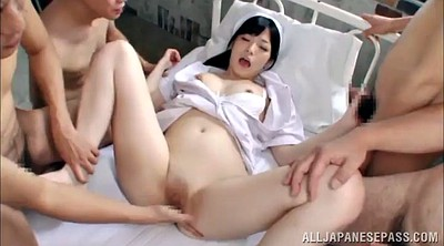Doggy, Asian gangbang, Nurse