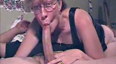 Glasses, Mature deepthroat, Inside