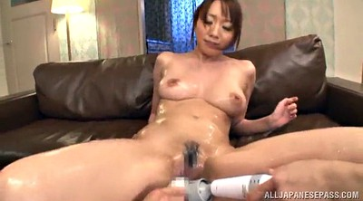 Fingering, Vibrator, Oily, Double pussy