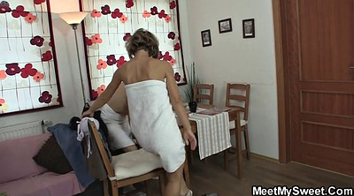 Mature old, Mom threesome