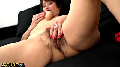 Hairy masturbating, Mature hairy