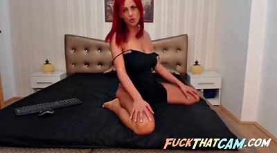 Webcam, Striptease, Red hair, Red hair solo