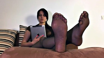 Nylon foot, Step mother, Cum on feet