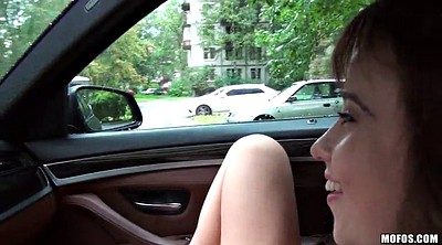 Huge tits, Teen car