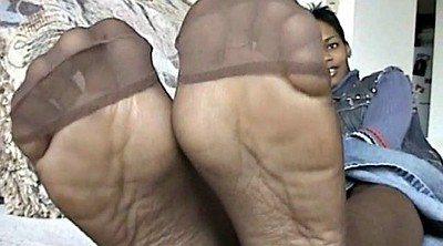 Ebony, Pantyhose feet, Sole, Ebony sole, Black pantyhose