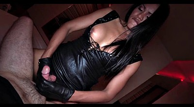 Black shemales, Gloves handjob, Glove handjob