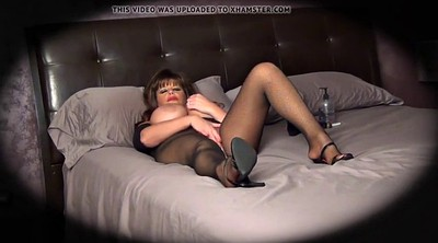 Gym, Pantyhose milf, Pantyhose masturbation, Caught masturbating