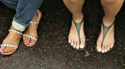 Train, Candid, Milf feet, Training, Candid feet, Candids