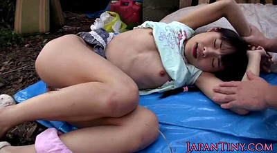 Japanese threesome, Japanese petite, Japanese outdoor