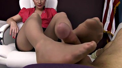Nylon footjob, Nylon feet, Pantyhose feet, Pantyhose footjob