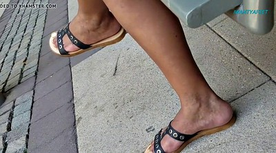 Mature feet, Ebony feet, Candid, Ebony foot