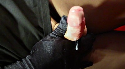 Spitting, Nylon handjob