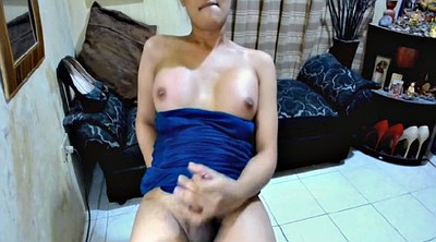 Asian tranny, Big cock shemale, Asian masturbation