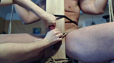 Edging, Chair, Edge, Bondage handjob, Handjob milking, Gay milk