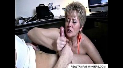 Hand job, Job, Mature swinger, Handjobs