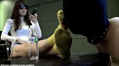 Socks, Asian femdom, Foot worship, Dirty foot