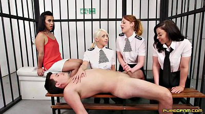 Cosplay, Prison, Prisoner, Clothed sex