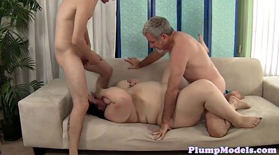Bbw threesome, Plumper