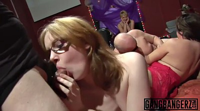Huge cum, Over, Mature gangbang