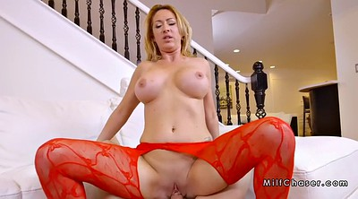 Red, Stockings milfs