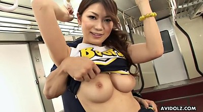 Japanese solo, Train, Busty japanese