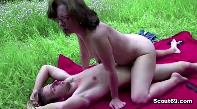 Seduced, Granny boy, Outdoors, Seduce anal, Old granny anal