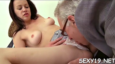 Russian granny, Tutor, Drilled