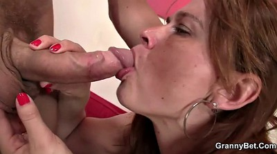Old and young, Head, Old milf, Busty mature