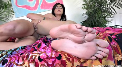 Older, Doggy, Foot lick, Cumshot feet, Brunette