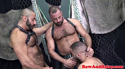 Leather, Bear, Blowbang, Chubby bear