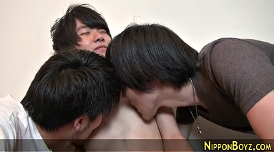Japanese threesome, Twinks, Handjob japanese, Japanese handjob