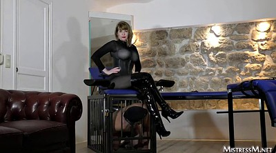 Latex, Female, Whipped, G-men, Latex bondage, Female domination
