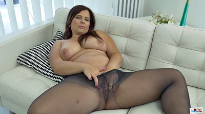Mature pantyhose, Chubby solo