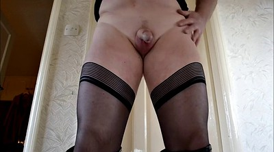 Boots, Crossdress, Solo boots, Slut solo, Pantyhose masturbation, Stocking masturbation