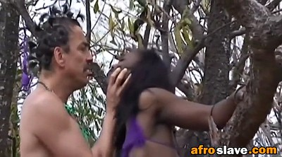 Bdsm, Blowjob, African, Outdoors, Black slave