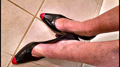 Mature feet, Shoes, Mature foot