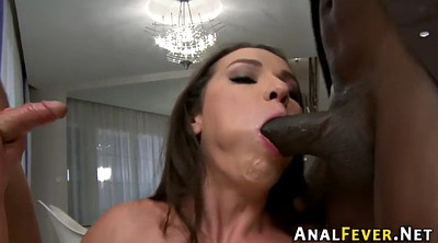 Throat, Finger anal, Interracial blowjob
