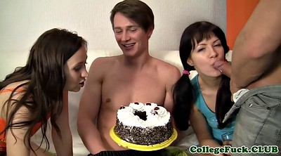 Party, Anal party, College, Messy, Cake
