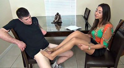 Nylon footjob, Nylon foot, Fetish, Nylons footjob