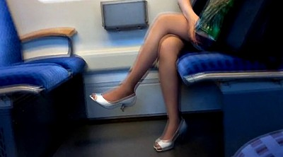 Leggings, Train, Peeping, Nylon, Trained, Toes