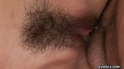 Hairy creampie, Cum inside, Japanese finger, Hairy cowgirl