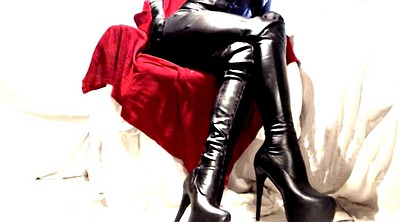 Boots, Latex masturbation, Thigh