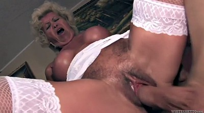 Hairy granny, Close up fuck, Young hairy